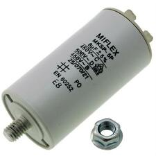 AnlaufKondensator MotorKondensator 8µF 450V 35x65mm Stecker M8 ; Miflex ; 8uF
