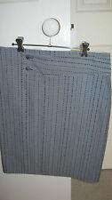 T. L. Wood wrap skirt grey pinstripe size 12