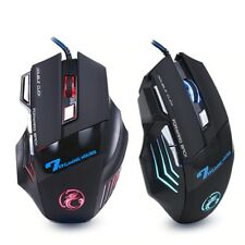 USB Wired Gaming With LED Backlight Gamer Mouse 7 Button 5500 DPI For Laptop PC