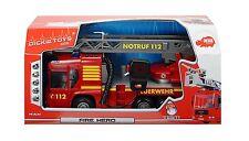 Dickie Toys Kinder Fire Hero Feuerwehrauto inklusive Batterien Spielzeug NEU