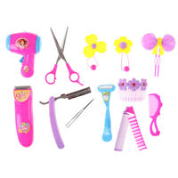 Baby Girl Pretend Play Barber Tool Set Accessories Toy Kid Beauty Makeup Toy VH