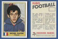 FIGURINA EURO FOOTBALL 76 - PANINI - NUOVA/NEW - N.106 PLATINI - FRANCE