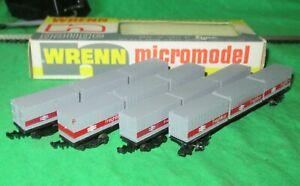 Wrenn Lima N gauge 4 BR Freightliner Bogie Container Wagons good part boxed