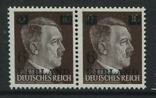 Latvia Kurland overprint on pair of Hitler stamps unmounted mint NH
