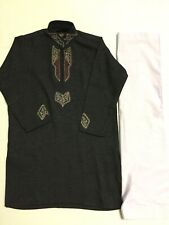 Pakistani/Indian Boys Black Kurta Suit