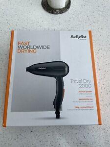 Babyliss Travel Dry 2000 Hairdryer