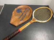 Vtg Dunlop Maxply Fort Wood Racquet 4 1/2 + Rare Hilton Head Racquet Club Cover