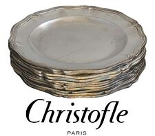 Série de 11 assiettes rondes de st Louis XV  en métal argenté Christofle