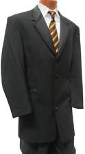 Black Bedford Tuxedo Long Frock Duster Tuxedo Zoot Coat Victorian TUXXMAN