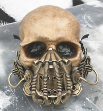 Distressed Gold STEAMPUNK 'BANE' (Dark Knight Rises) Mask -Tubes, Coils, Gears