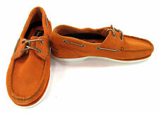 Timberland Boat Shoes Classic 2 Eye Suede Orange Topsiders Size 7.5