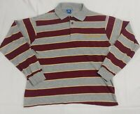 VTG 90s FSU Champion Long Sleeved Striped Collared Shirt Made in USA Small