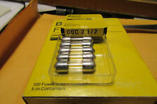100 Gbc 2.5 Amp German Car Fuse(Mercedes,Bm,Vw)+Othe r,Made In Usa By Buss/Cooper
