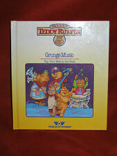 1985 Worlds Of Wonder Teddy Ruxpin Grunge Music Hardcover Book Only