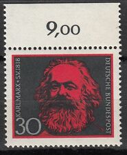 TIMBRE ALLEMAGNE  NEUF N° 425 **  KARL MARX BORD DE FEUILLE