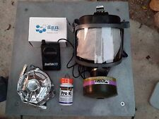 Scott Gas Mask Kit w/Pwr Voice Amp 40mm Nato Nbc Filter & Potassium Iodide New!