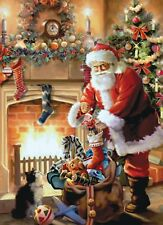 Christmas Wall / Door A3 Glossy Poster - Christmas Santa Claus Father Christmas