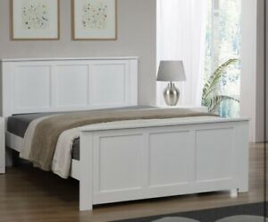 Mali Double Bed White
