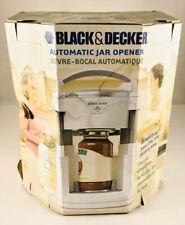 Black & Decker Lids Off Automatic Jar Opener Model Jw 200 Box Damaged