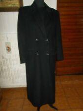 VINTAGE Veste manteau  laine/cachemire bleu marine BURBERRYS 10 long 42/44