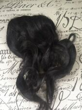 VTG NOS 100% Human Hair Piece Native American Black Bouffant Extension Comb 50's