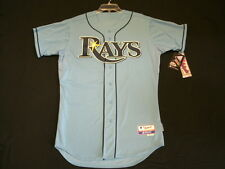 Authentic Majestic SZ 36 SMALL, TAMPA BAY RAYS, BLUE, COOL BASE ON Jersey SHARP