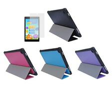 Slim Folio Cover Case + Screen Protector for Amazon Kindle Fire HD 8 2016 Tablet