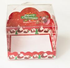 Red 3D Mini Bakery Boxes | for Cake/Dessert Christmas Holiday Party Gift | 6ct