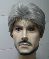 New Fashion short gray white men's WIG