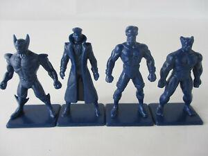 X-Men Crisis In The Danger Room Lot of 4 X-MEN MINIATURE FIGURES 1994 Pressman!!