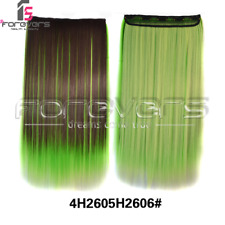 100% Real Thick Clip In Hair Extensions Long Straight Full Head Hair Extentions