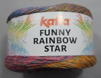 "150 gr Bobbel ""Funny Rainbow Star "" von Katia  inkl. Anleitung - 5 Farben"