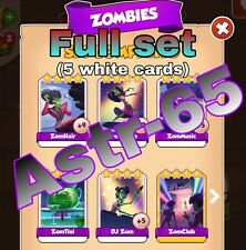 Coin Master :-) Zombies Set- 5 Cards -Fast Delivery