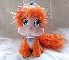 "Disney Palace Pets Treasure Orange Kitten Plush Animal Princess Ariel's Cat 8"""