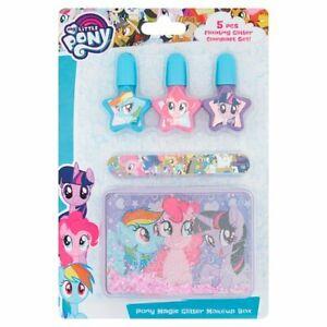 My Little Pony Nail Polish Glitter Compact and Makeup Set Gift Set
