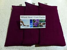 WHEAT BAGS Heat Pack WHEAT PACK x 3  WINE 31 x 17 cm UNSCENTED Bulk FREE Post