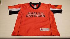 Kid-Toddler-Size-4-Harley-Davidson-Motorcycles-Stitched Jersey Shirt Very Nice