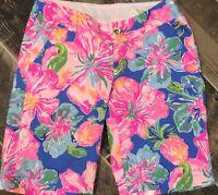 NWT Lilly Pulitzer Chipper shorts Beckon Blue Jungle Utopia MSRP $78 Sz 00 28