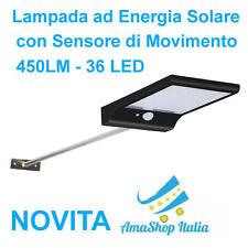 Luci da Esterno iluminazione con Sensore di Movimento Lampada ad Energia Solare