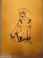 Nackte Frau Frauenakt 1924  Tuschezeichnung  Bordell