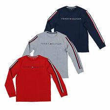 Tommy Hilfiger мужской футболка с вырезом лодочкой рубашка с длинным рукавом полосатый флаг с логотипом новые Th