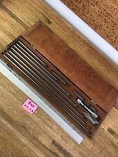Starrett 823m Inside Micrometer Rod Set 25mm 450mm In Wood Case