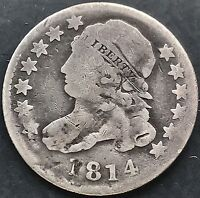 1814 Capped Bust Dime 10c Rare Early Date  #4896
