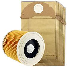 Karcher humide et sec WD2 aspirateur filtre & 10 dust bags
