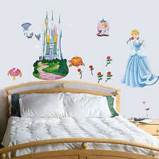 Disney Princess Childrens Wall Stickers Cinderella Removeable Kids Room ZS001A/B