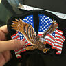 USA FLAG EAGLE PATCH Stars and Stripes Embroidered Iron on Applique Sewing DIY
