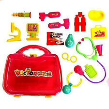 Kids 16 Piece Little Doll Doctors Medical Kit Adorable Accessories Role Play Set