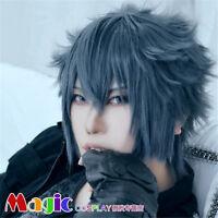 Final Fantasy XV Noctis Lucis Caelum Game Cosplay Costume Accessory Wig 30CM