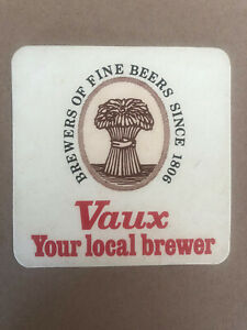 Vaux Your Local Brewer Sunderland Brewery Vintage Beer Mat