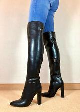 High Heels Überknie Stiefel Damen Männer Boots EU42 UK8 US11 12cm Absatz